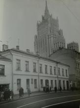 Главный фасад дома № 53 по улице Арбат. Фотография 1960-х