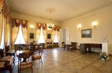 Экспозиция в Большом зале  «Мемориальной квартиры А.С. Пушкина на Арбате»