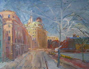 Выставка Александра Анатольевича Дронова «Дороги города».